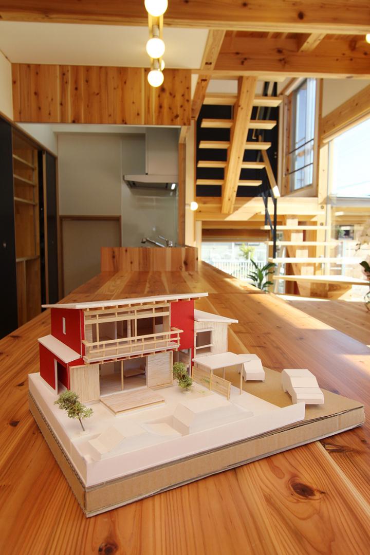 家の完成を明確にイメージする為に作られた模型